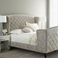 Old Hickory Tannery Silver Valley Sleigh Bed