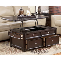Darby Home Co Hancock Trunk Coffee Table with Lift Top