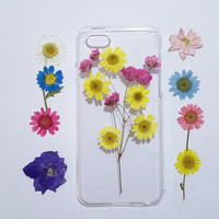 iPhone 6s case, iPhone 6 Case Clear, Flower iPhone 6 Case,flower iPhone 6s Case, iPhone 6s Plus Case, pressed flower iphone case