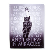 Audrey Hepburn Black and White Wall Canvas