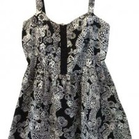Black And White Hot Topic Royal Bones Skulls Party Dress 55% off retail
