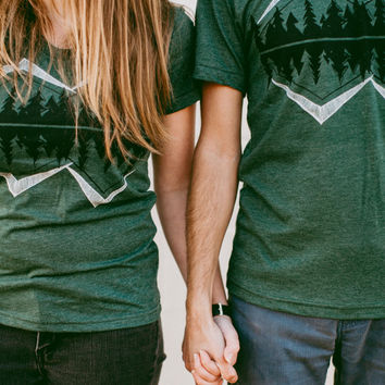 Crater Lake graphic tees - matching t shirts - men or women - tshirt set - gift for bff - gift for couples - camping shirt