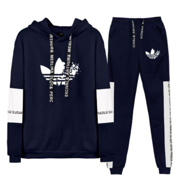 Adidas casual sports stitching couple sweater set [4202391470116]