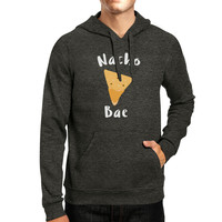 Nacho Bae Unisex Gray Hoodie Cute Graphic Funny Gift Food Lover