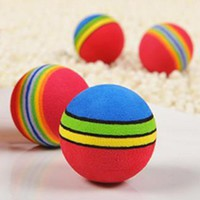 For Cat Pet Products Pet Toys Puppy Dog And Cat Toys Chew Q Rainbow Ball Toys