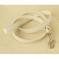 White Dog Leash, White Leather Leash, Pet Accessories, White, Dog Leash, Dog Accessory , Wedding dog collar