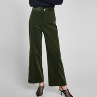 THICK CORDUROY TROUSERS