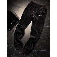 DCCKNQ2 Champion Woman Men Fashion Velvet Embroidery Pants Trousers