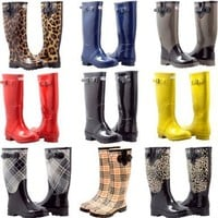 Forever Young Inc. Women's Wellie Rain Boot