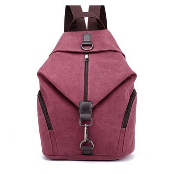 Fashion Canvas Retro Casual College Wind Backpack