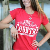 SHE'S COUNTRY TEE (S)
