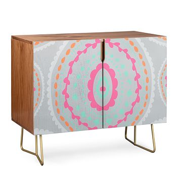 Allyson Johnson Gray Medallion Credenza