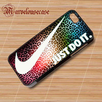 Nike Just Do It Leopard Rainbow Pattern custom case for all phone case