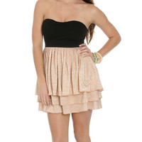 Shimmery Tiered 2fer Dress | Shop Dresses at Wet Seal