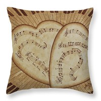 """Love Song Of Our Hearts Throw Pillow 14"""" x 14"""""""
