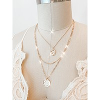 Rebecca Coin Layer Necklace