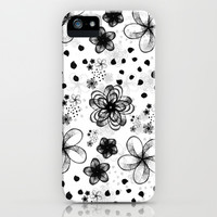 sketchy flowers iPhone & iPod Case by spinL