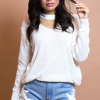 Pebble Knit White Top