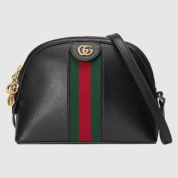 GUCCI Ophidia Tide brand women's wild shell bag shoulder Messenger bag Black
