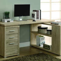 Natural Reclaimed-Look Left Or Right Facing Corner Desk