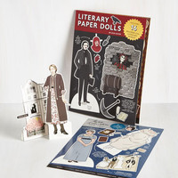 Nifty Nerd Limited Time Author Paper Doll Set by Chronicle Books from ModCloth