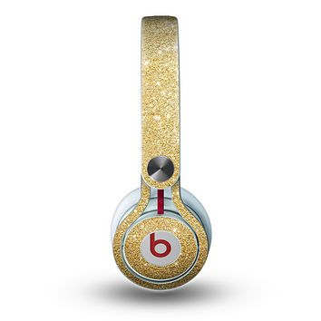 The Gold Glitter Ultra Metallic Skin for the Beats by Dre Mixr Headphones