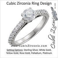 Cubic Zirconia Engagement Ring- The Carol Anne