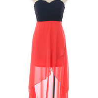 Love Coral Hi-Low Dress by Shop Baby Doll