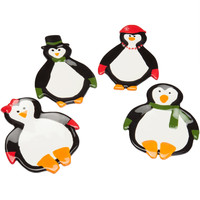 Penguin Party Ceramic Dessert Plate Set