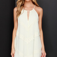 Meadow the Way Cream Lace Dress