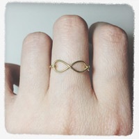 infinity ring/infinite ring/gold infinity ring/silver infinity ring/wire infinity ring/infinity love wire ring/eternity friendship/gift