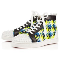 Christian Louboutin CL Lou Spikes Men's Women's Flat Black Leather