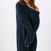Silence + Noise Fuzzy Off-The-Shoulder Sweater Mini Dress - Urban Outfitters