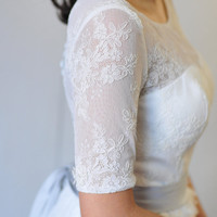 Custom Wedding Dress-Meredith Gown-Made to order in ivory, blush or champagne