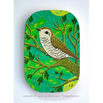 Cuckoo Bird Original Painting -- Artwork by Susie Ghahremani