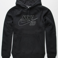 Nike Sb Icon Reflective Mens Hoodie Black  In Sizes