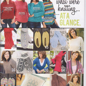 Cast On magazine Aug-Oct 2012: how to design and knit cables, norwegian mittens, felted slippers