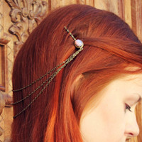pink opal chain bobby pins