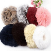 3 Pcs Cute Imitation Rabbit Fur Plush Ball Women's Elastic Hair Band Hairbands Ladies Girls Hairwear Headwear Hair Jewelry Gift = 1931500292