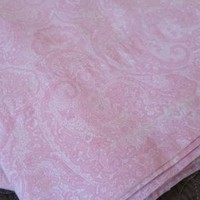 Ralph Lauren Top Flat Paisley Sheet Twin Pink White 100% Cotton