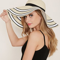 Stripe Trim Floppy Hat