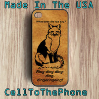 What does the fox say iPhone 5 iPhone 4 case - cell phone case - Plastic - Rubber case iphone 5 - (iP 004T))