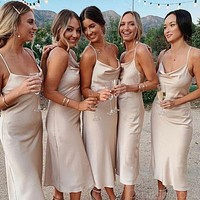 Tea Length Bridesmaid Dresses, Bridesmaid Dress For Wedding BM0016