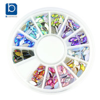 Blueness Glitter AB Acrylic Stud Decoration for Nails Art Design Manicure 12 Colors Mixed Resin Adhesive Jewelry ZP202