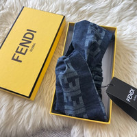 FENDI FF Blue Denim Headband