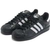 """Adidas"" Fashion Shell-toe Flats Sneakers Sport Shoes Black white line"