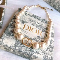Christian Dior Woman Fashion Accessories Fine Jewelry Ring & Chain Necklace & Earrings-6