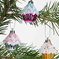 Cupcake Ornament - Set Of 6- Assorted One