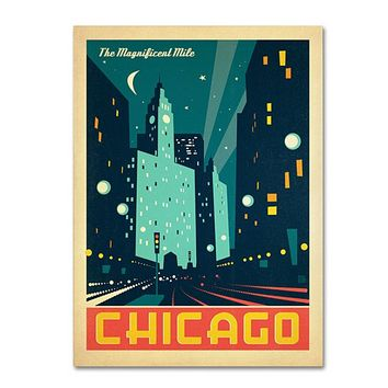 Anderson Design Group 'Chicago III' 14 x 19 Canvas Art