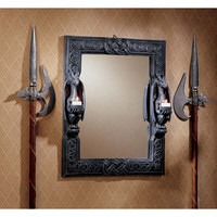 Park Avenue Collection Twin Sentinel Dragons Mirror